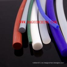 Tubo sólido de la goma de silicona de Qingdao de la buena calidad