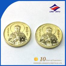 Moedas de metal em branco gravadas personalizadas, Moedas de ouro personalizadas simples