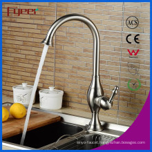 Fyeer Nickle Brush Single Handle Kitchen Sink Faucet