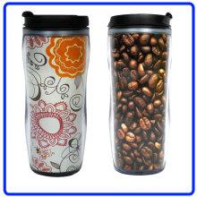 Рекламные пластиковых кофе кружка, кружка (R-2074)