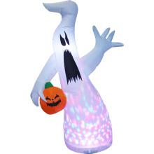 Calabaza fantasma blanca inflable para decoración de Halloween