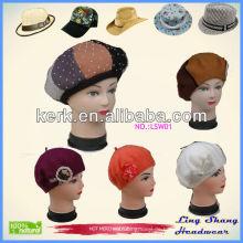 Neue Förderung 100% Wolle Dame Hut warme Hüte Schnee Hüte Shop, LSW01