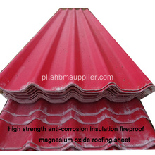 MGO Roofheheet Better Than Pvc Plastic Roof Tile