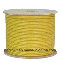 Centre de données 10g 600MHz CAT6A Blinded STP LAN Cable Yellow
