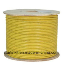 Data Center 10g 600MHz CAT6A Shielded STP LAN Cable Yellow