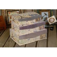 Caja de almacenamiento elegante de cartón de papel de impresión con solapa de imán