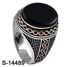 El último anillo de plata de la joyería de la manera del diseño para el hombre (S-14489, S-14489D, S-14489, S-14509, S-14509B, S-14509D)