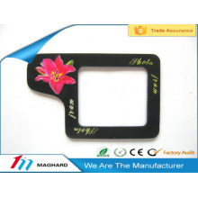 Мода черный прямоугольник магнитный фото рамка для фотографий
