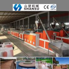 2014 CHINA MANUFACTURER WOOD PLASTIC COMPOSITE PROFILE Línea de máquina / máquina de compositar de madera y plástico