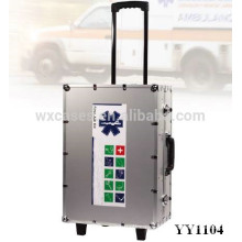 aluminum first aid case with wheels