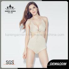 Frauen Tie Front Schwimmen tragen gestrickte Einteiler