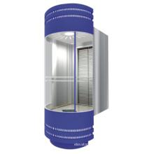 Hochwertiger Panorama-Edelstahl-Aufzug mit Maschinenraum