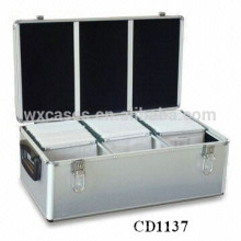 alta qualidade & forte CD 630 discos CD caixa de alumínio grosso