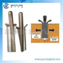 Клин / заглушек и прокладок для разделения твердых пород