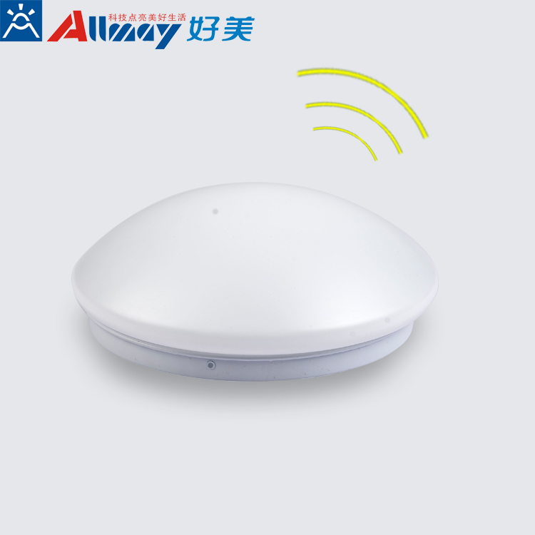 led ceiling lamp with microwave motion sensor