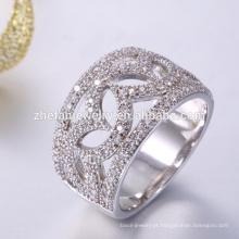 Handmade personalizado 925 cz anel de prata esterlina