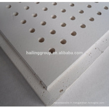 Panneau de gypse perforé pour plafond 12mm