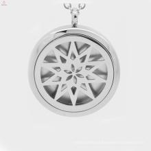 Venda quente elegante medalhão, medalhão magnético óleo essencial difusor