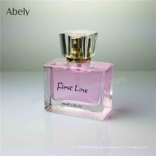 Travel Size Square Glass Perfume Bottles with Pump Sprayer