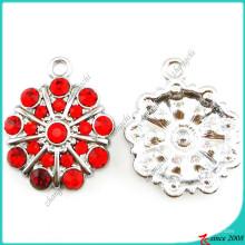 Красный камень цветок подвески DIY ювелирных изделий подвески (ПДВ)