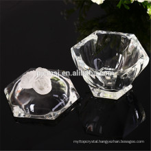crystal jewelry box with crystal rose,rotate pattern crystal jar
