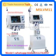MSLVM11i Medical Trolley Ventilator Hospital Respirateur intégré au compresseur d'air
