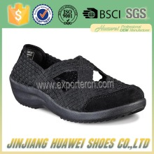 Latest Import Export Handmade Woven Elastic Shoes Sneakers for Women