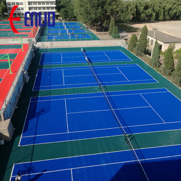 Instalasi Mudah PP Basketball Modular Sports Flooring