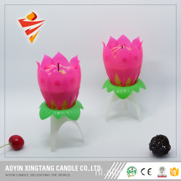 Goedkope prijs Rose Shape Candles Birthday Song Candles