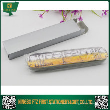 Pluma de recuerdo Embalaje Caja de estaño de metal para pluma simple o doble