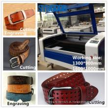 Máquina de corte e gravação de laser Laser Syngood 1300 * 900mm 1600 * 1000mm para cinto de couro