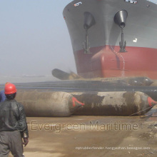 Evergreen Maritime Floating Rubber Rollers Bags, Heavy Lift Airbags for Ship, Dredgers, Tugboat, Fishing Boat Marine Launching