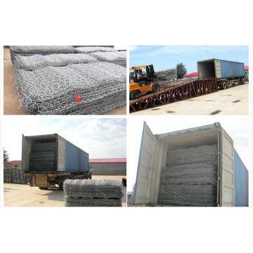 Cesta galvanizada de Gabion / malha gabião / Anping sextavada galvanizada