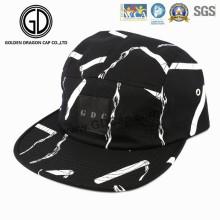 2016 grande chapéu impressão campista Snapback Cap com logotipo de couro