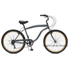 Bicicleta de crucero de playa de 7 '' para hombre de 26 ''