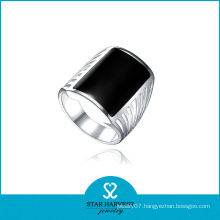 High Quality Rhodium Plated Agate Finger Rings