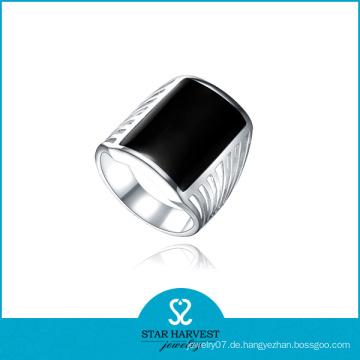 Hochwertiger Rhodium überzogener Achat-Finger-Ringe