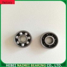 Hybrid ceramic bearings with nylon/POM steel cage
