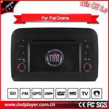 Hualingan 2 DIN Car DVD Player pour FIAT Croma Navigation GPS avec Bluetooth / Radio / RDS / TV / Can Bus / USB / iPod / HD Fonction écran tactile
