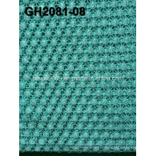 Gh2081 Polyester Jaune Matériau Cercle Rould Shape Corded Lace Fabric