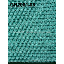 Gh2081 Желтый полиэстер Материал круга Rould Форма шнура кружевной ткани
