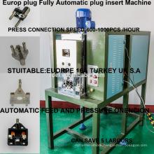 EURO 3 pin plug insert machine/ 3pins press machine