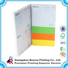 2015 Изготовленный На Заказ Липкие Рекламные Цветной Бумаги Блокнот Печать