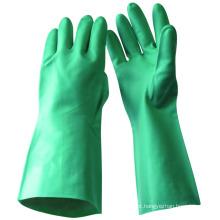 NMSAFETY 13 Luvas domésticas de nitrilo verde MIL