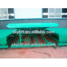 8 t nivelador de doca de cilindro hidráulico estacionário de armazém