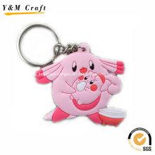 Tier Weich PVC Schlüsselhalter für Retail-Markt Ym1122