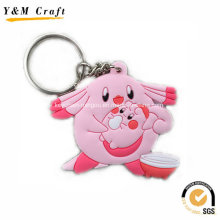 Animal Soft PVC Key Holder for Retail Market Ym1122