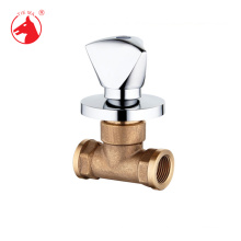 ISO9001 approval brass 2-way concealed valve