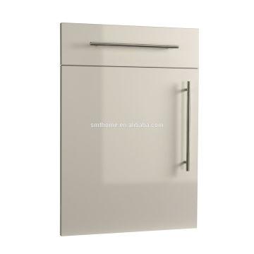 GREY COLOR HIGH GLOSS PVC SLAB KITCHEN DOOR