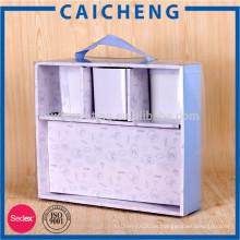 Caja de empaquetado de alta calidad de la ropa de la trama de la cubierta del pvc del PVC